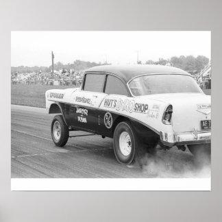 Vintage Drag - Hut's Dyno '56 Chevy Gasser Poster