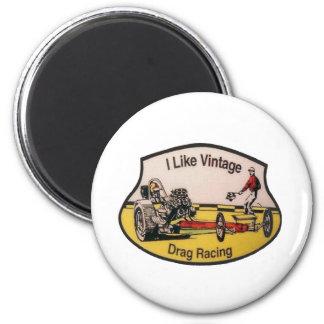 Vintage Drag Racing Magnet