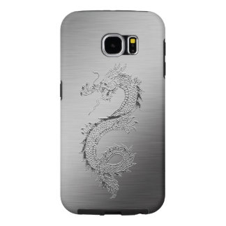 Vintage Dragon Brushed Metal Look Samsung Galaxy S6 Cases