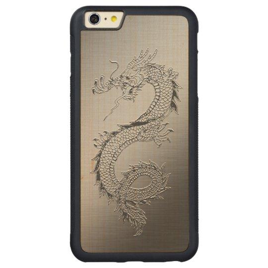 Vintage Dragon Carved Maple iPhone 6 Plus Bumper Case