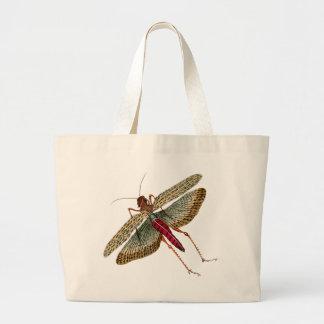Vintage Dragon Fly Painting Jumbo Tote Bag