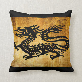 Vintage Dragon Throw Pillow