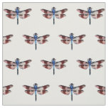 Vintage Dragonfly Illustration Colourful Fabric