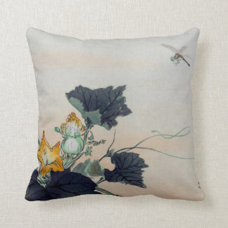 Vintage Dragonfly Throw Pillow