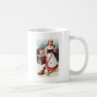Vintage Drawing: Cinderella Sweeping the Floor Coffee Mug