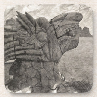 Vintage Drawing of a Dragon of Halong Bay, Vietnam Coaster