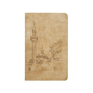 Vintage drawing of Juma-Jami Mosque Journals