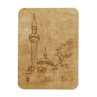 Vintage drawing of Juma-Jami Mosque Magnet