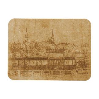 Vintage drawing of minaret magnet