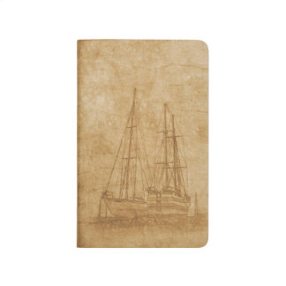 Vintage drawing of yacht club journal