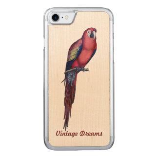 """Vintage Dreams"" - Mr. Macaw Carved iPhone 7 Case"