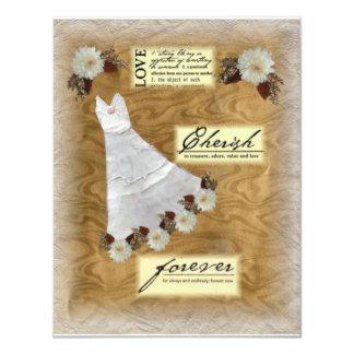 Vintage Dress Bridal Shower Invitation