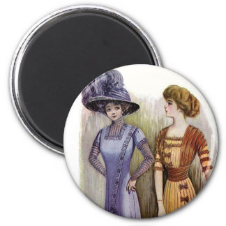 Vintage Dresses 2 Inch Round Magnet