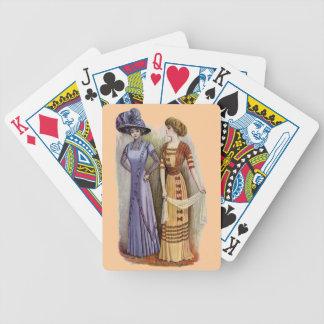 Vintage Dresses Poker Deck