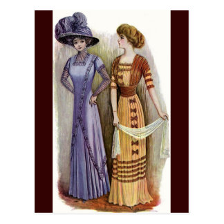 Vintage Dresses Postcard