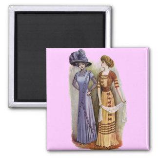 Vintage Dresses Square Magnet