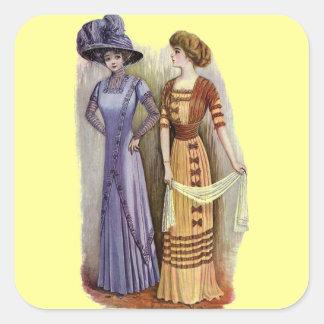 Vintage Dresses Square Sticker