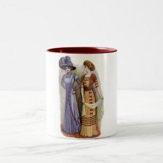 Vintage Dresses Two-Tone Coffee Mug