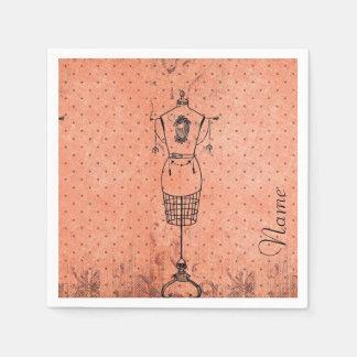 Vintage Dressmaker Disposable Napkin