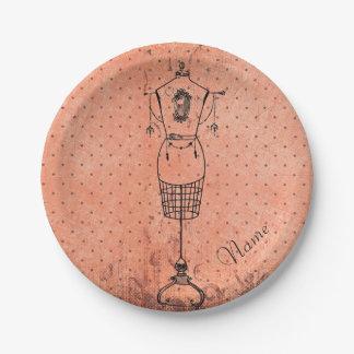 Vintage Dressmaker Paper Plate