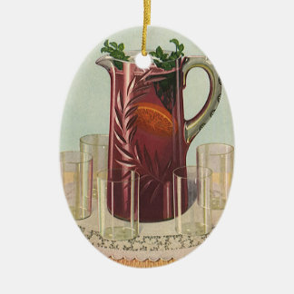 Vintage Drinks and Beverages, Pitcher of Iced Tea Ceramic Ornament