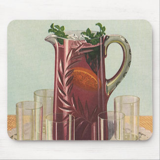 Vintage Drinks and Beverages, Pitcher of Iced Tea Mouse Pad