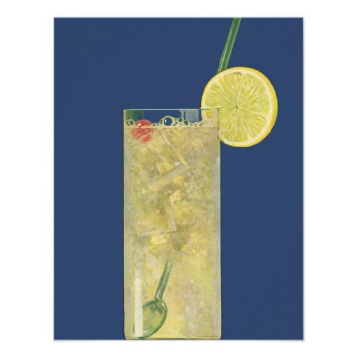 Vintage Drinks Beverages Lemonade or Fruit Soda Personalized Announcements