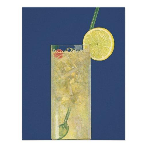 Vintage Drinks Beverages Lemonade or Fruit Soda Personalized Announcements