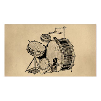 Vintage Drum Kit Drums Double-Sided Standard Business Cards (Pack Of 100)