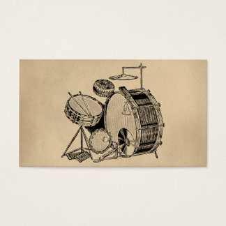 Vintage Drum Kit Drums Business Card