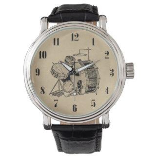 Vintage Drum Kit Drums Wrist Watches