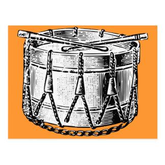 Vintage Drum Print Postcard