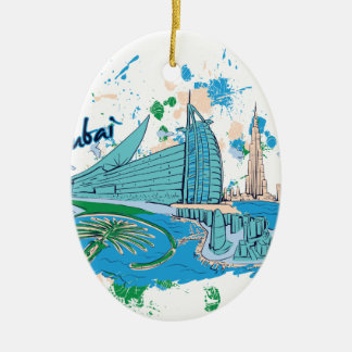 vintage dubai us e design ceramic ornament