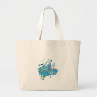 vintage dubai us e design large tote bag