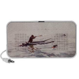 Vintage Duck Hunting Sea Kayak Portable Speakers