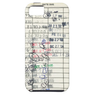 Vintage Due Date Library Overdue Reminder Slip Case For The iPhone 5