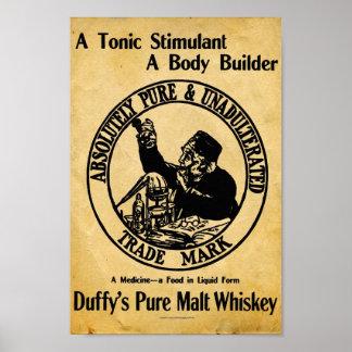 Vintage Duffys Malt Whiskey Sign