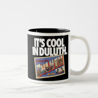 Vintage Duluth Minnesota It's Cool in Duluth Two-Tone Coffee Mug
