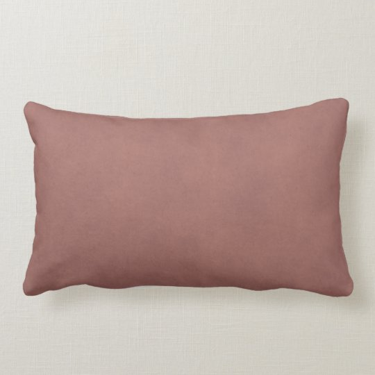 Vintage Dusty Dark Rose Parchment Paper Background Lumbar Pillow