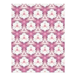 Vintage Dusty Rose Feminine Pattern Letterhead Design