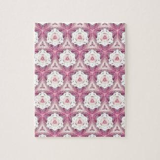Vintage Dusty Rose Feminine Pattern Puzzle
