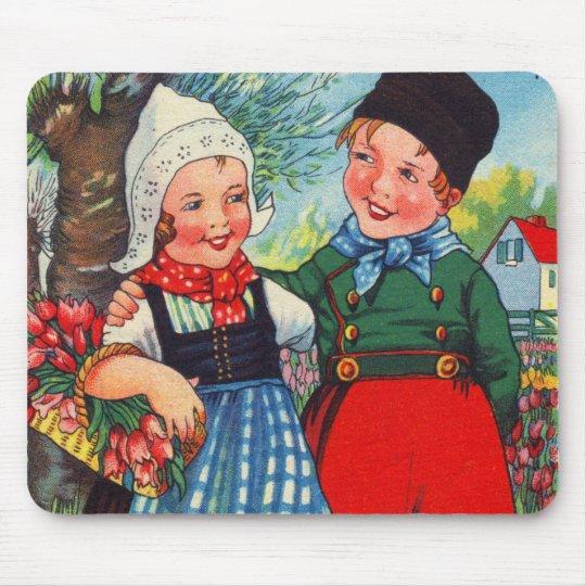Vintage Dutch Children hartelijk gefeliciteerd Mouse Pad