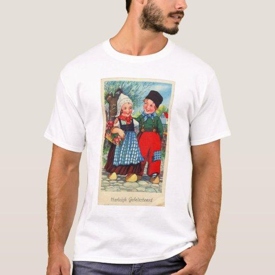Vintage Dutch Children hartelijk gefeliciteerd T-Shirt