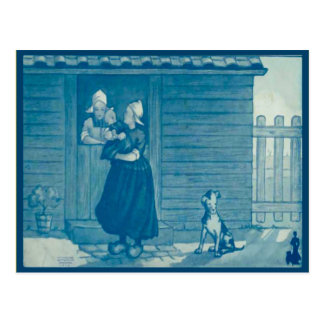 Vintage Dutch costume and traditional lifestyle Postcard
