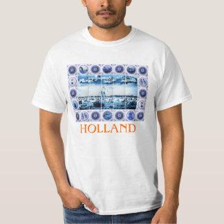 Vintage Dutch Delft Blue/ Delftware Tiles Holland T Shirt