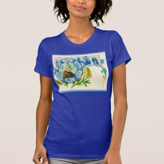 Vintage Dutch design, 1905 Dutch girl with flowers T-shirts