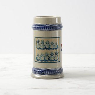 Vintage Dutch design, 1905,Little Dutch girls Beer Stein