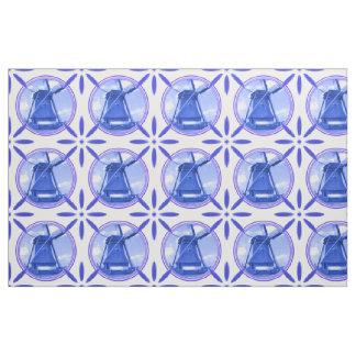 Vintage Dutch Tiles Delftware Windmill Holland Fabric