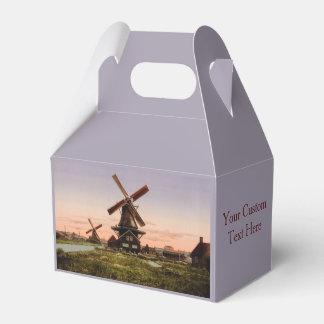 Vintage Dutch Windmills custom favor box
