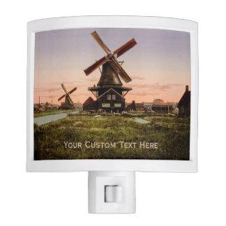 Vintage Dutch Windmills custom night light